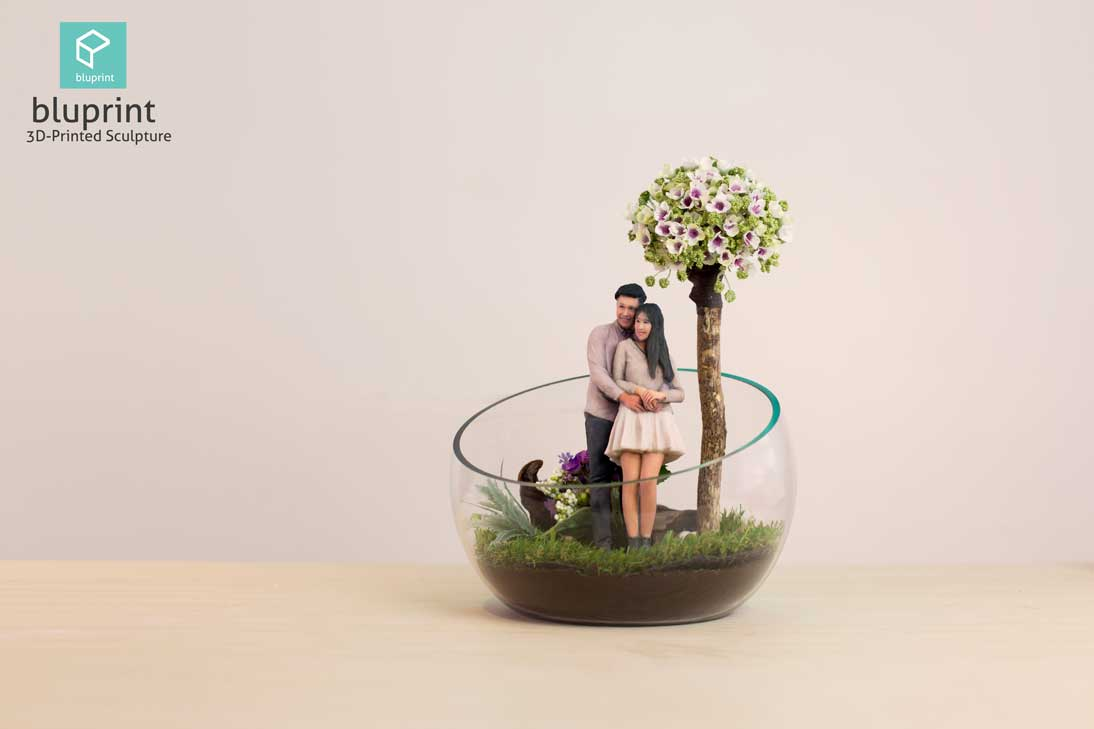 Bluprint 3DFigure Couple Terrarium Gardern