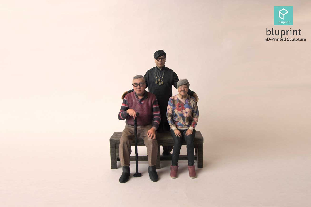 Bluprint 3D Figure Family Elderly