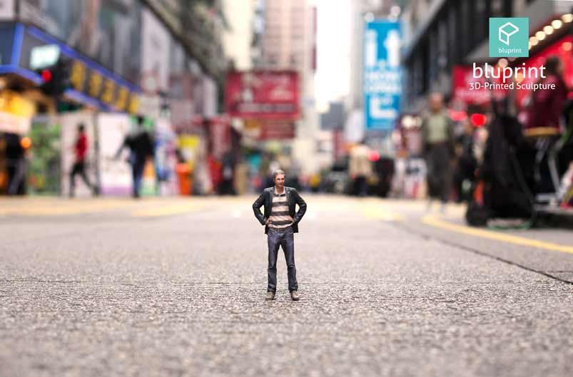 Bluprint 3D Figure Guy Street View Mong Kok