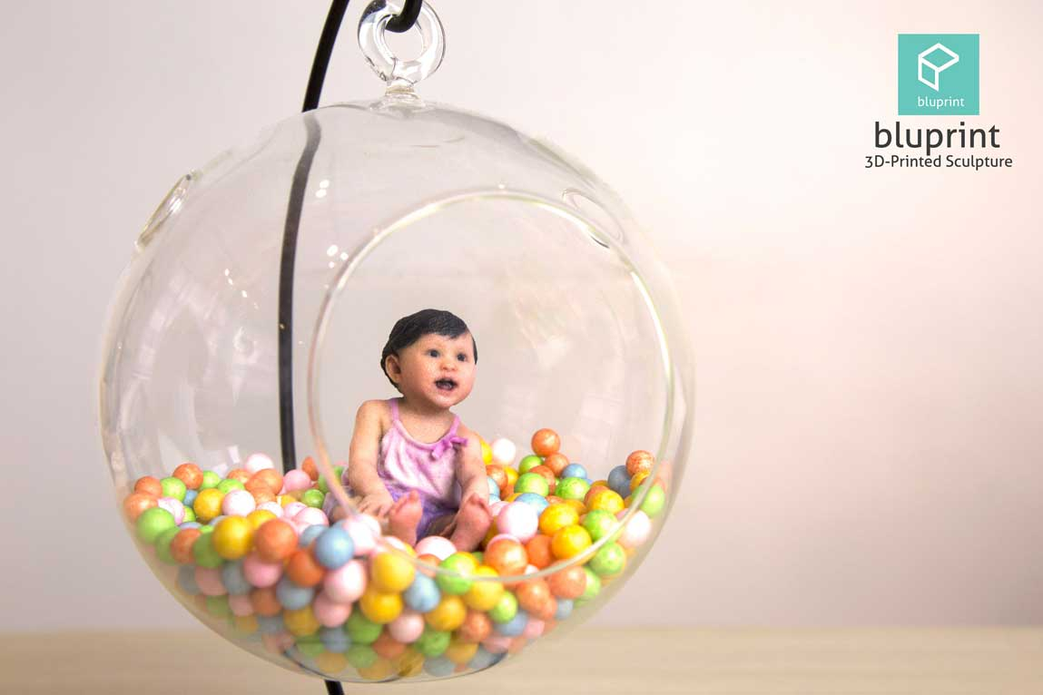 Bluprint 3D Figure Baby Girl With Ball Pit