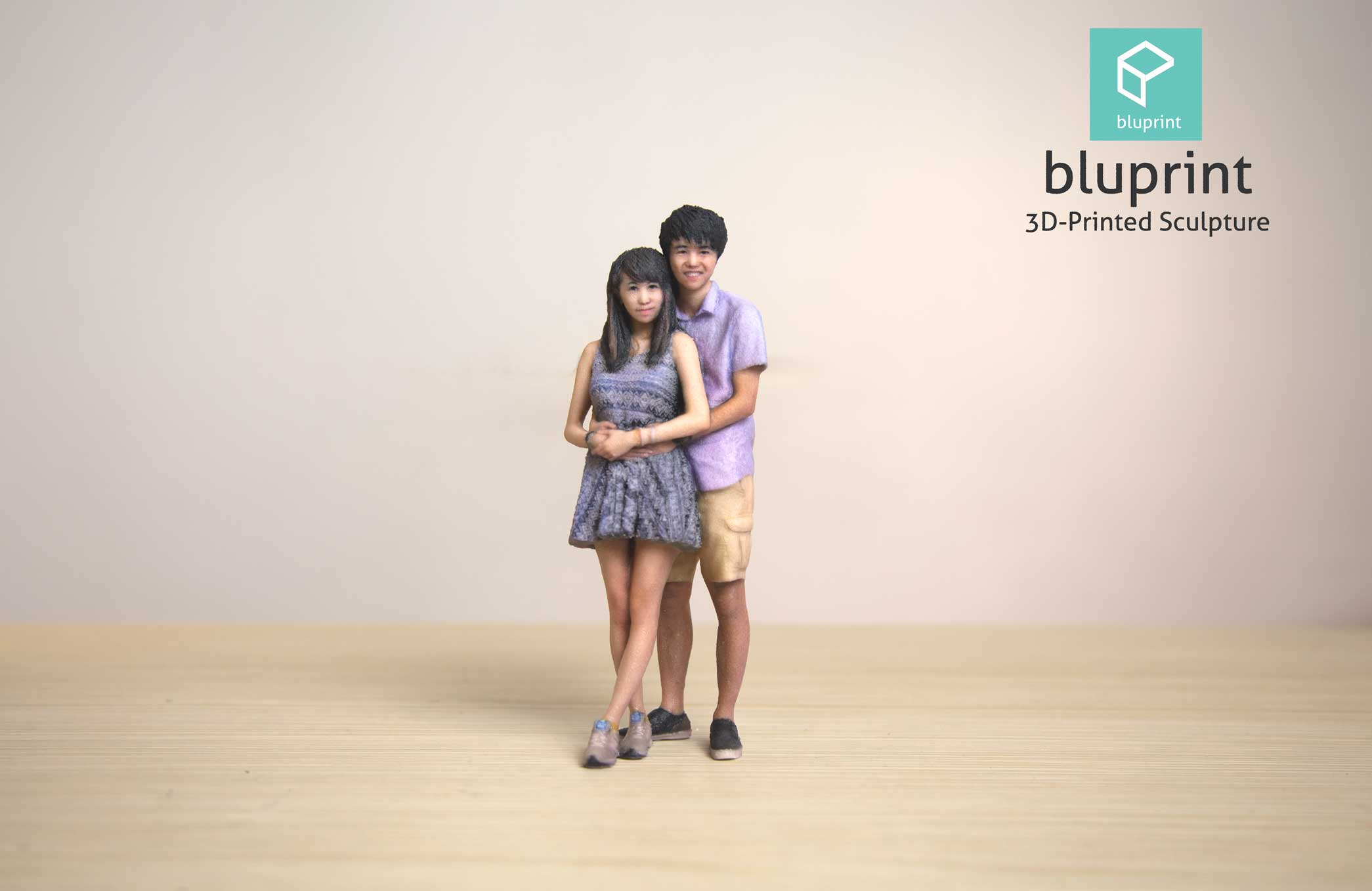 Bluprint 3D Figure Couple Anniversay