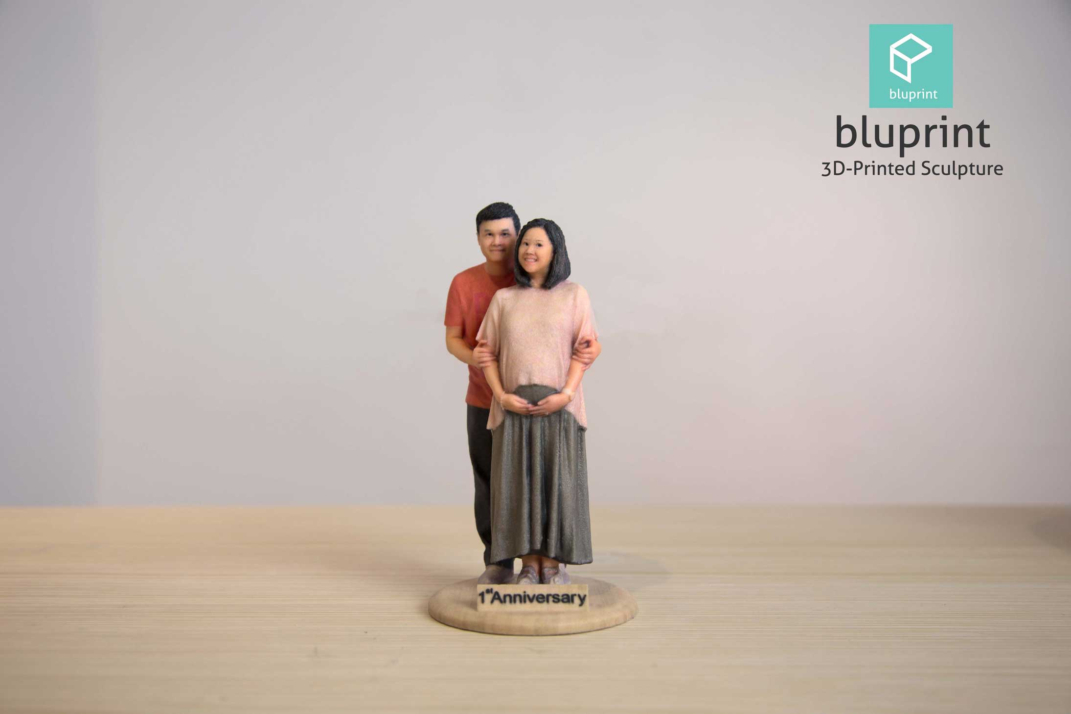 Bluprint 3D Figure Couple Anniversay Pregnant