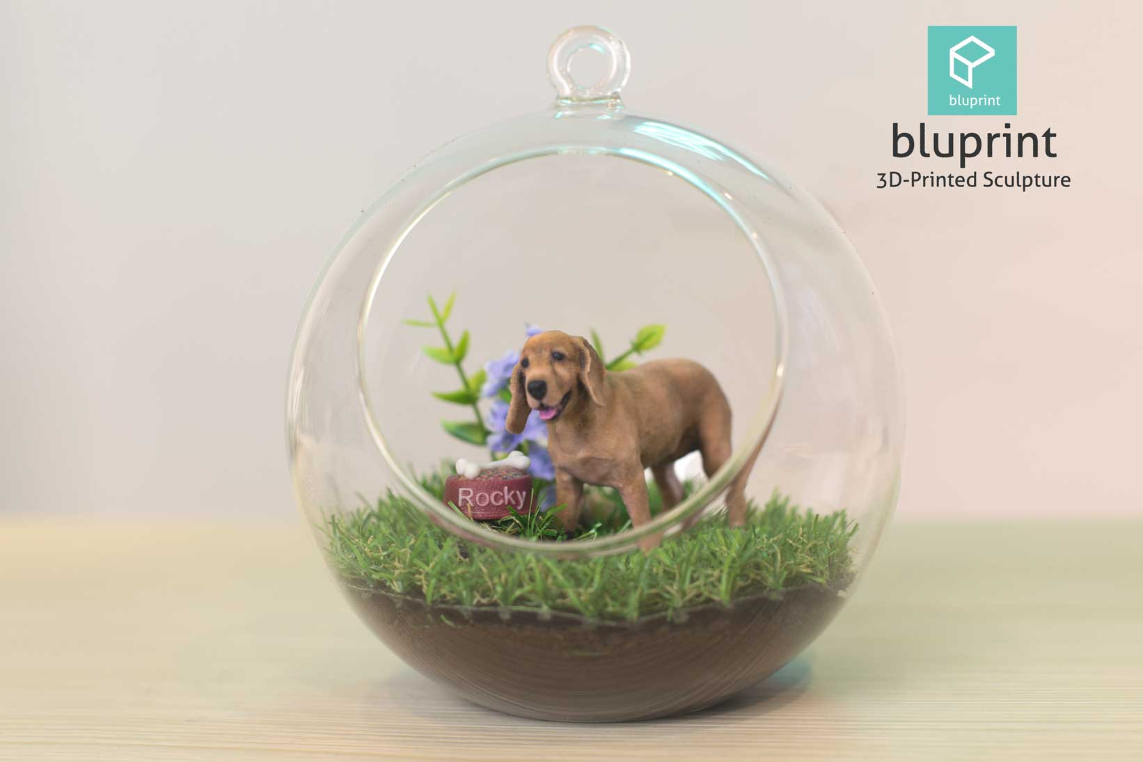 Bluprint 3D Figure Dog Cocker With Terrarium
