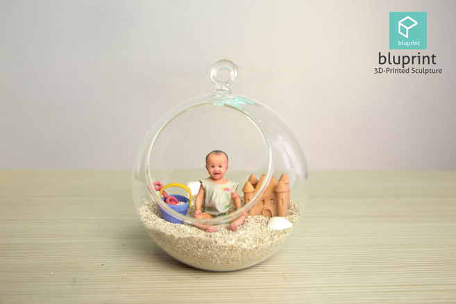 Bluprint 3D Figure Baby Girl With Beach Terrarium