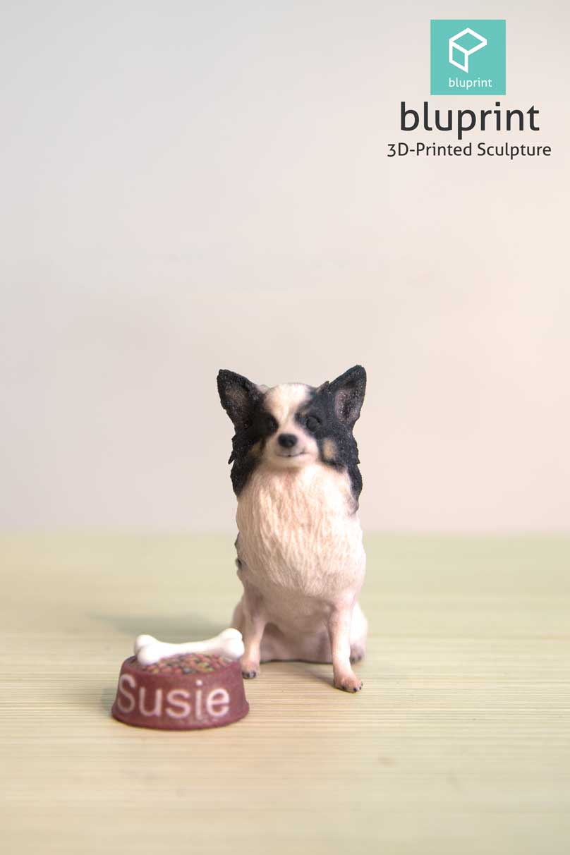 Bluprint 3D Figure Dog Papillon