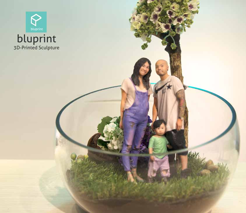 Bluprint 3D Figure Family with Terrarium