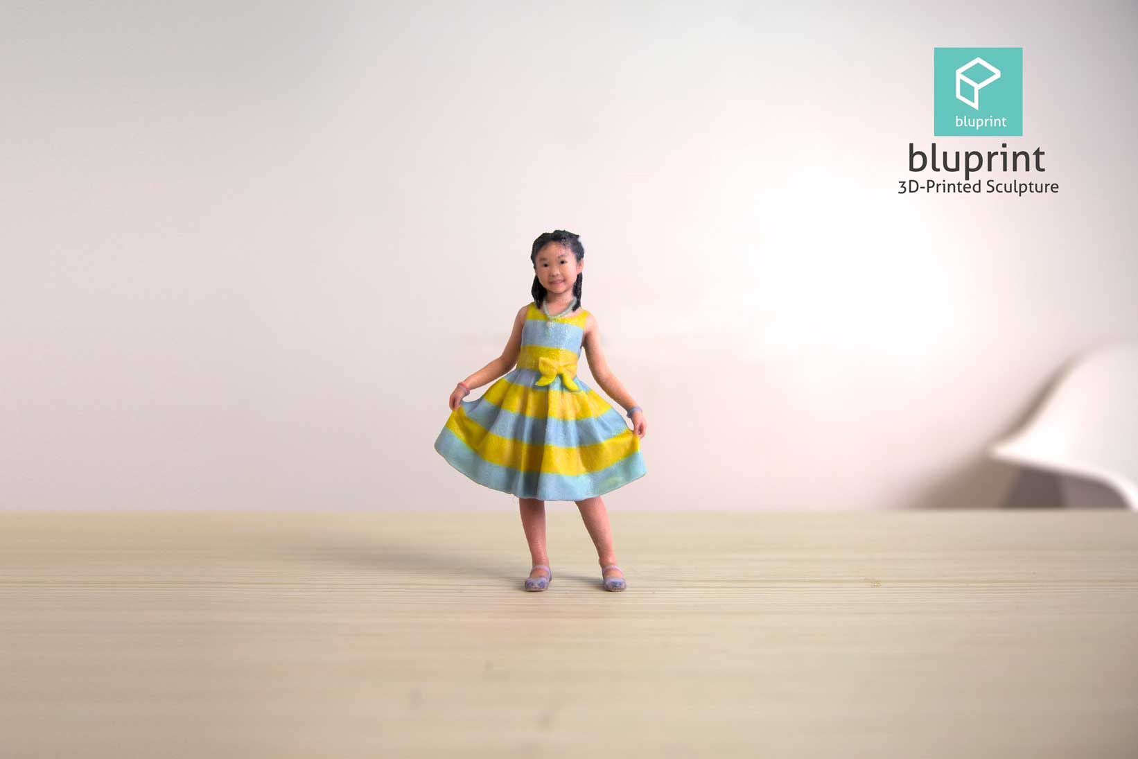 Bluprint 3D Figure Kids Girl With Dress