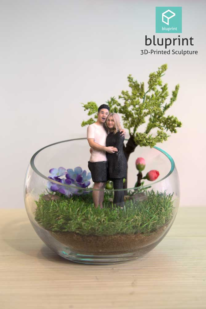Bluprint 3D Figure Mini Couple With Terrarium
