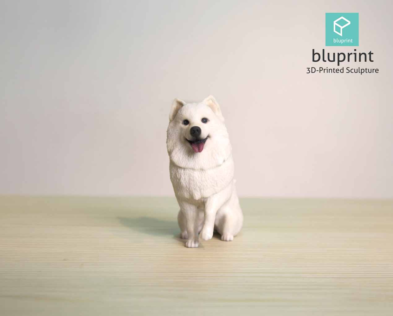 Bluprint 3D Print Figure Dog Samoyed
