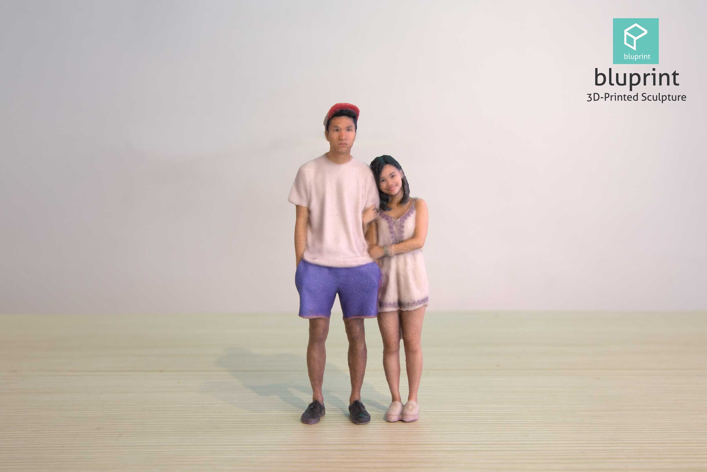 Bluprint 3D Figure Sculpture Hong Kong Couple Cap