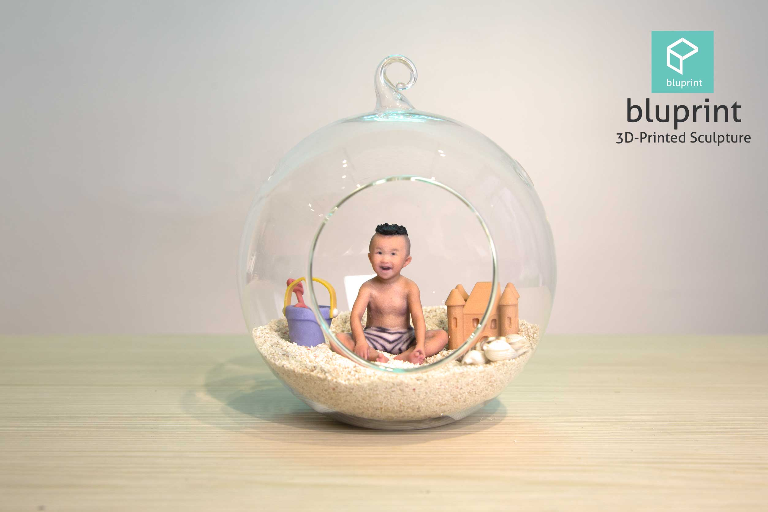 Bluprint 3D Figure Sculpture Hong Kong Kid Boy Beach Terrarium