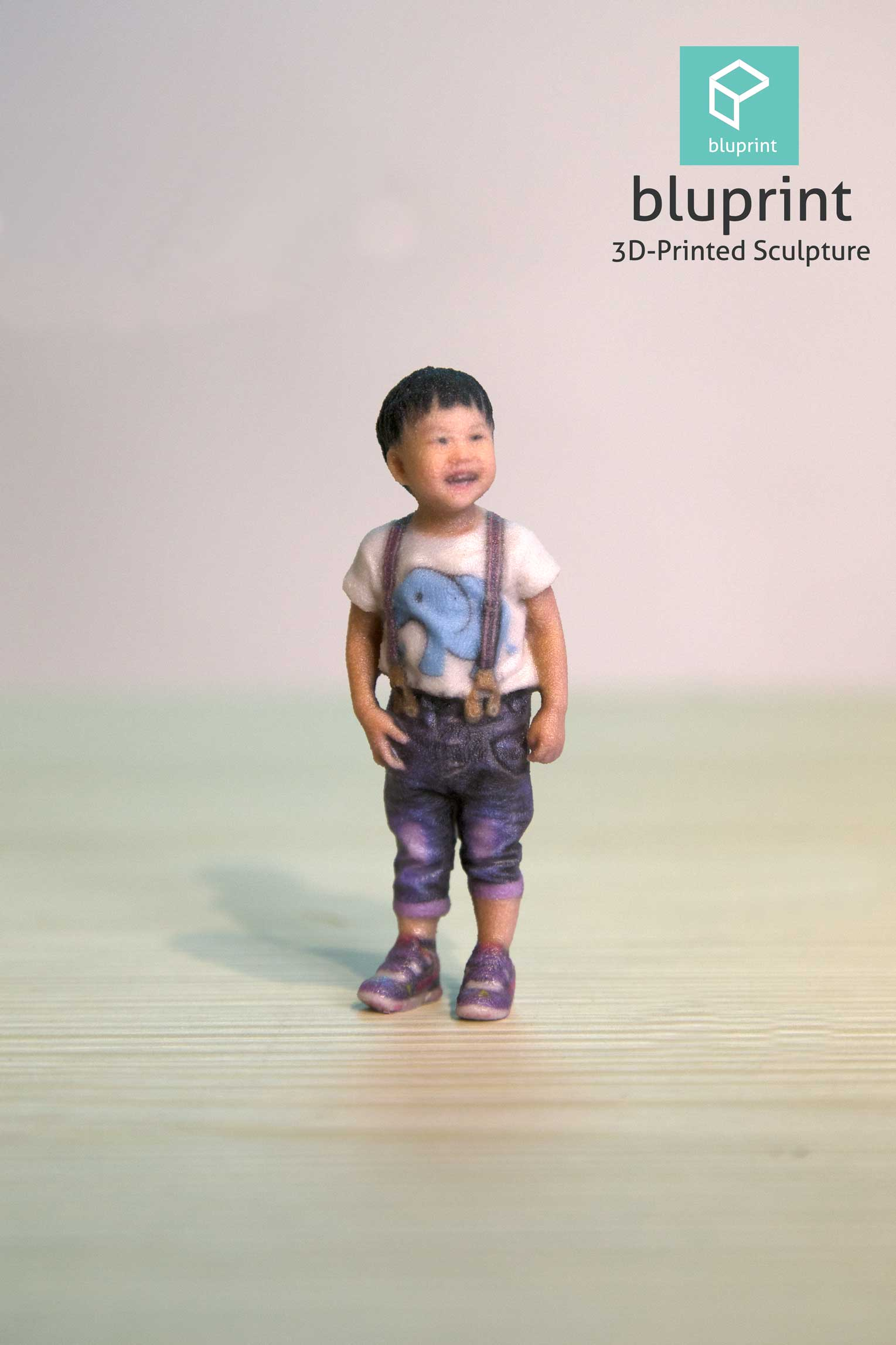 Bluprint 3D Figure Sculpture Hong Kong Kid Boy Stand