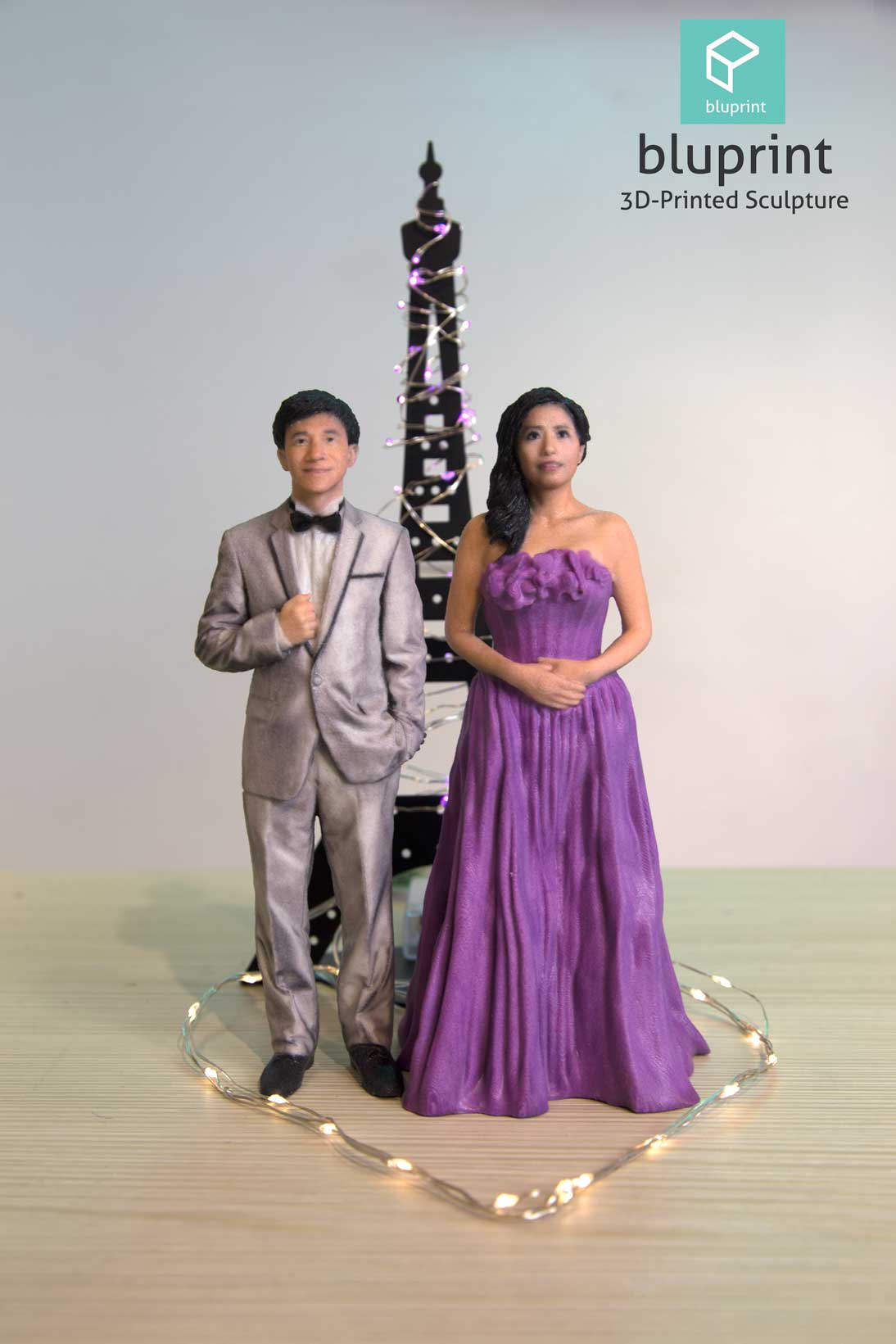 bluprint 3d figure sculpture hong kong wedding bride and groom