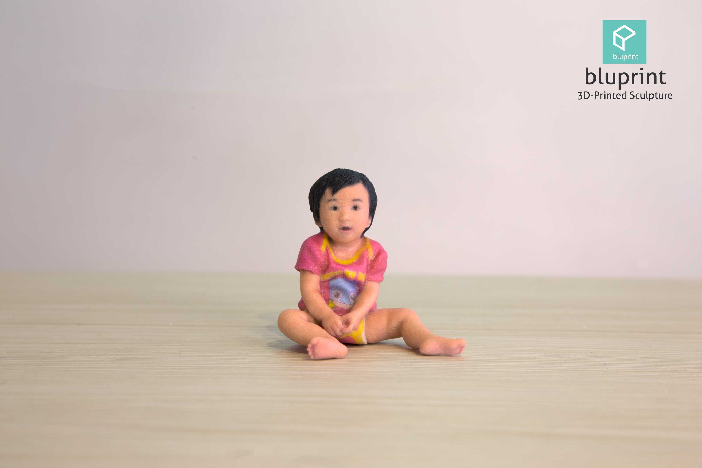 bluprint 3d figure sculpture hong kong baby girl pink
