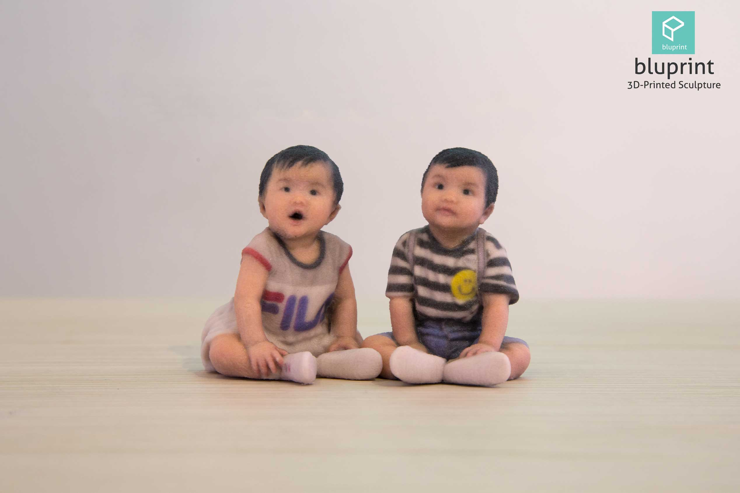 bluprint 3d figure sculpture hong kong twin baby